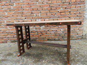 masa din lemn si profile otel