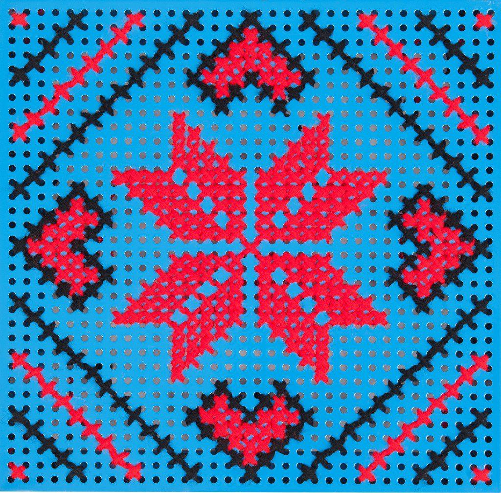 panou decorativ albastru steaua 8 colturi