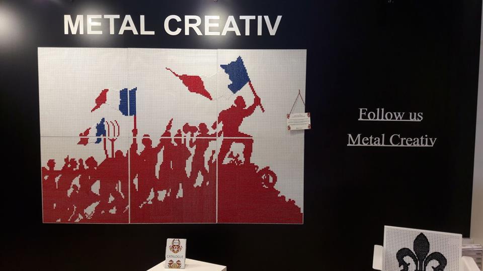 perete decorativ cusut manual Metal Creativ - Revolutia Franceza