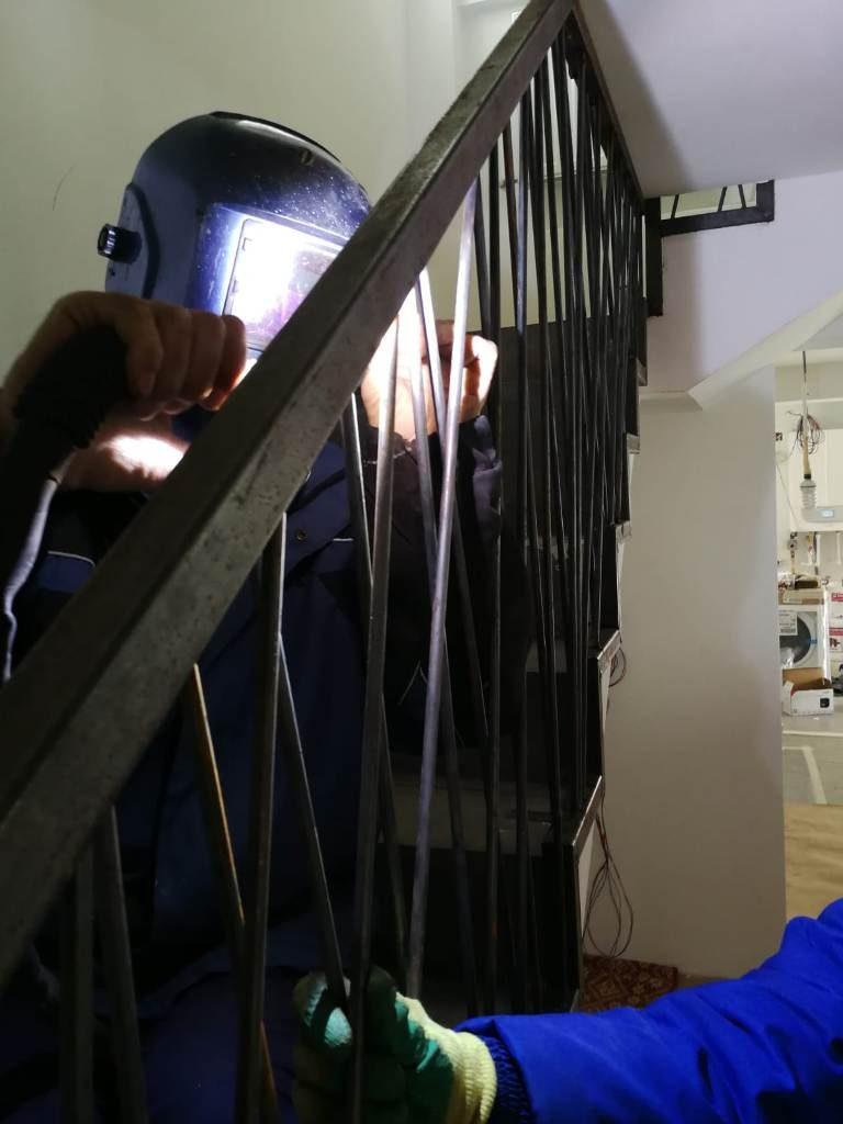 balustrada interior realizata la comanda