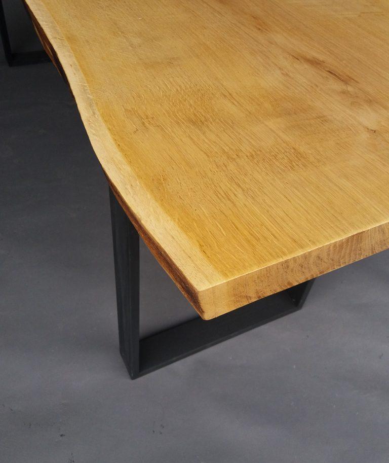 masa stil industrial lemn stejar si metal