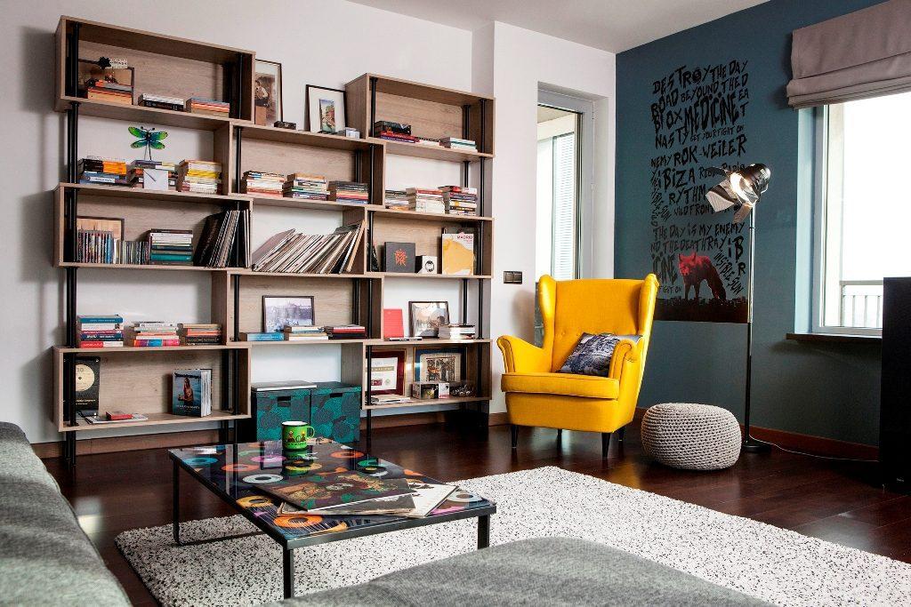 mobila living - biblioteca stil industrial