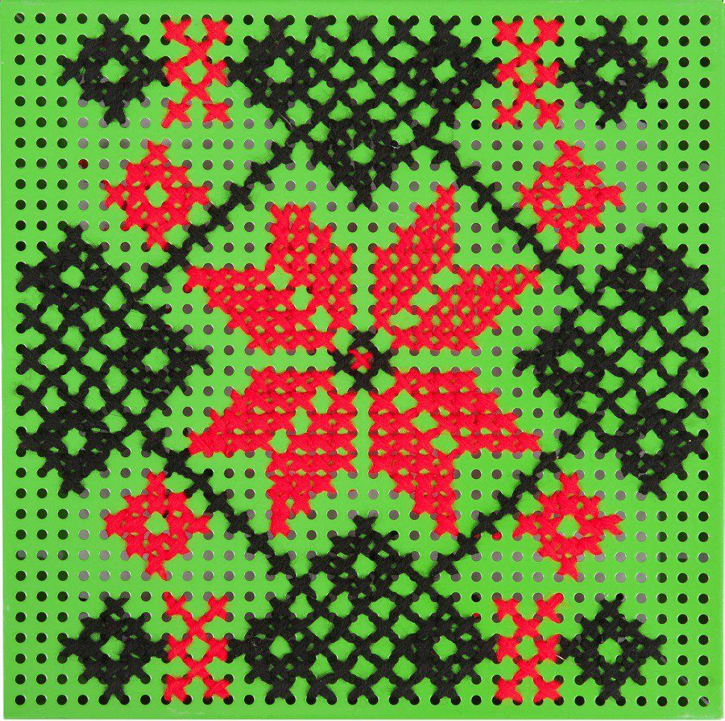 panou decorativ verde - colul morii