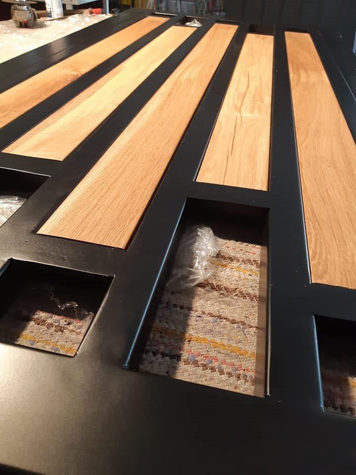 poarta metal si lemn