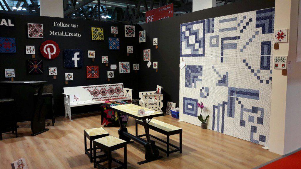standul Metal Creativ la Salonul de mobila Milano